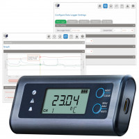 Lascar data loggers with display and built-in software